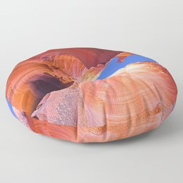 Geology Alive - Time Passages of Antelope Canyon Floor Pillow