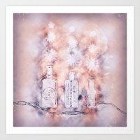 Flower Puffs Art Print