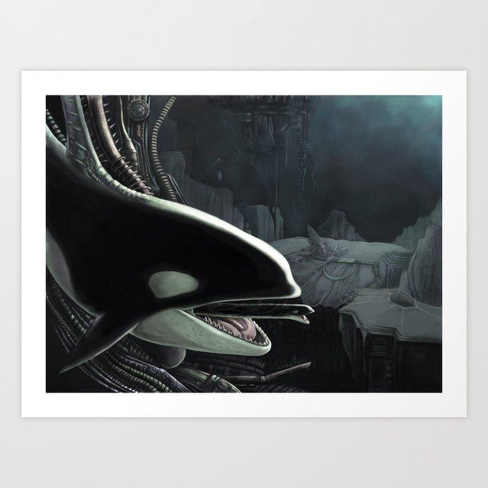 Whalien Art Print