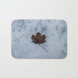 Frozen in Time - Maple Leaf, Austria Bath Mat