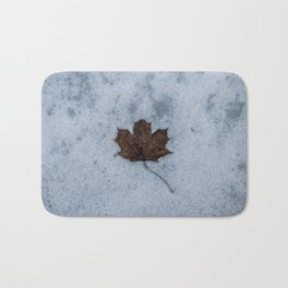 Frozen in Time - Maple Leaf, Austria Bath Mat
