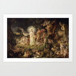 The Quarrel of Oberon and Titania by Joseph Noel Paton, 1849 Art Print