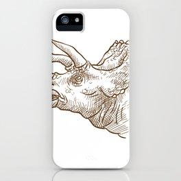 Retro Triceratops Dinosaur Gifts iPhone Case