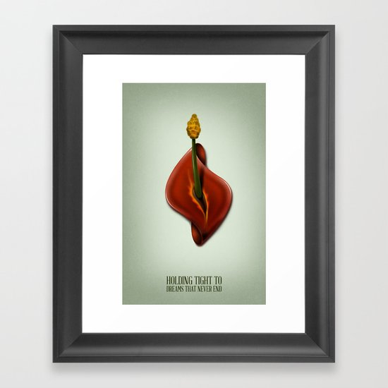 Holding tight to dreams that never end Framed Art Print