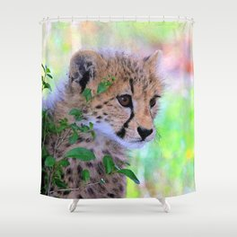 Aqua_Cheetah_20180102_by_JAMColorsSpecial Shower Curtain