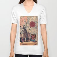 bukowski V-neck T-shirts featuring its bukowski by TYLER WINTERMUTE