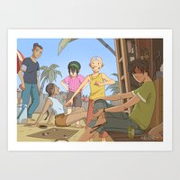 the last airbender Art Prints featuring Avatar the last airbender by Collectif PinUp!