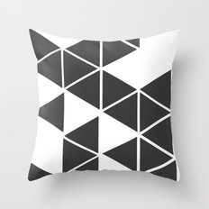 T R I _ N G L S (BLK) Throw Pillow