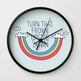 Upside Frown Wall Clock