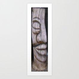 Carving Purirri NewZealand Art Print