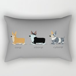 corgi, siborgi, and cybogi Rectangular Pillow