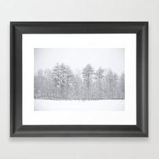 One Snowy Day Framed Art Print