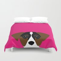 jack russell Duvet Covers featuring jack russell I love you  by styLOVEobrazy