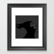 Malificent Lines Framed Art Print