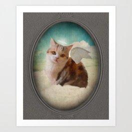 Little Angel Olive Art Print