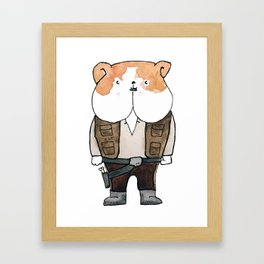 Han Bulldog Framed Art Print
