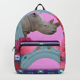 Rhino Frame pattern Design Backpack