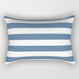 Blue and White Stripes Rectangular Pillow