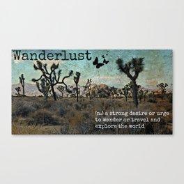 Wanderlust Inspirational Travel Quote  Canvas Print