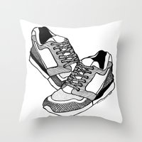 sneakers Throw Pillows featuring Sneakers by Addison Karl