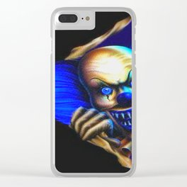 Evil Clown Clear iPhone Case