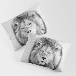 Lion 2 - Black & White Pillow Sham