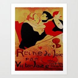 Vintage poster - Reine de Joie par Victor Joze Art Print
