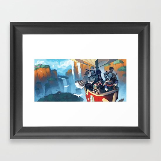 Above the Scarlet Pillars Framed Art Print