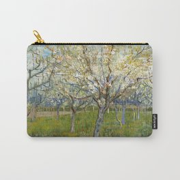 Orchard with Blossoming Apricot Trees by Vincent van Gogh Carry-All Pouch