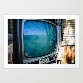 TV and Colour Art Print