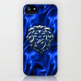 Lion Plasma Blue iPhone Case