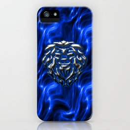 Lion Plasma Blue iPhone Case