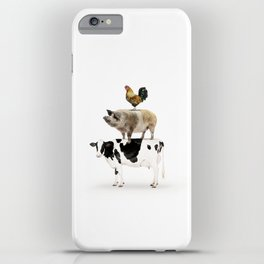 Three Stacked Farm Animals iPhone Case
