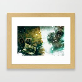 Numb Book 1 Zombie Concept 1 Framed Art Print