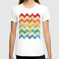 quilt T-shirts featuring Chevron Rainbow Quilt by Rachel Caldwell
