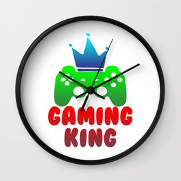 Gaming King Gamer Play Controller Konsole Online Wall Clock