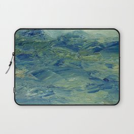 Abstract Blue Green Waves of Aqua Ocean Blue Mountains Laptop Sleeve