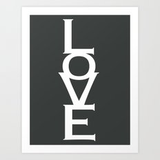 LOVE (gray) Art Print