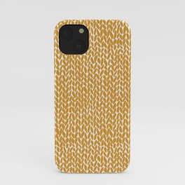 Hand Knit Orange iPhone Case