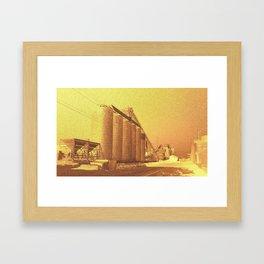 Global heating Framed Art Print