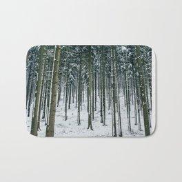 Winter Forest Treescape Bath Mat