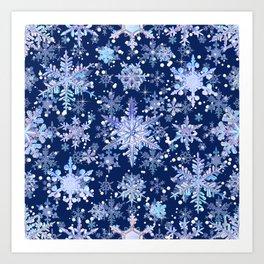 Snowflakes #3 Art Print