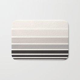 Grey Minimalist Watercolor Mid Century Staggered Stripes Rothko Color Block Geometric Art Bath Mat