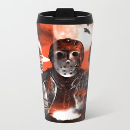 Freddy Krueger Jason Voorhees Michael Myers Super Villians Holiday Metal Travel Mug