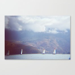 boats on the lake Canvas Print