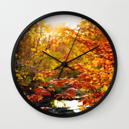 Autumn Glow Wall Clock