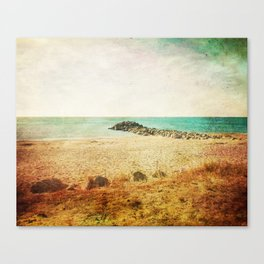 Beach in southern France - summer memories Canvas Print