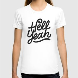 hell yeah X typography T-shirt