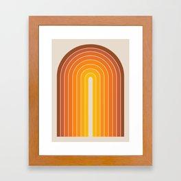 Gradient Arch - Vintage Orange Framed Art Print