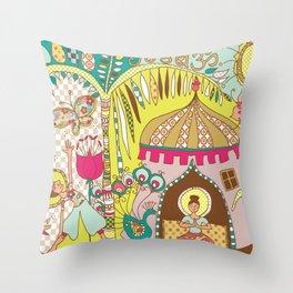 yogashala Throw Pillow